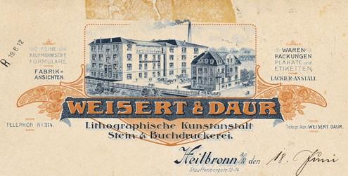 Firmengebäude, ca. 1912